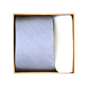 Linen Row Tie Box Sky Blue Ties