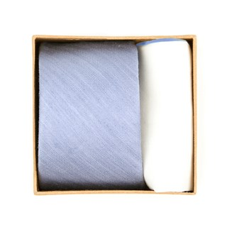 Linen Row Tie Box Sky Blue Gift Set
