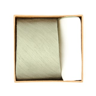 Linen Row Tie Box Sage Green Gift Set
