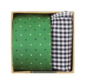 Clover Green Jpl Dots Tie Box ties