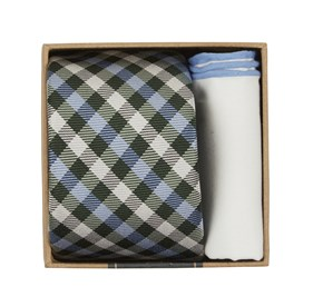 Green Polo Plaid Tie Box ties