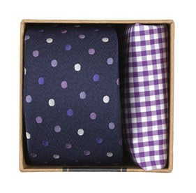 Purples Spree Dots Gift Set ties