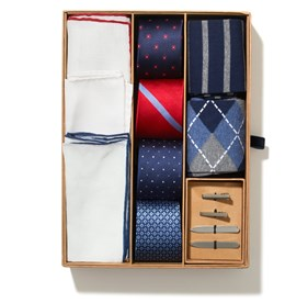 The Essentials Box Navy Ties