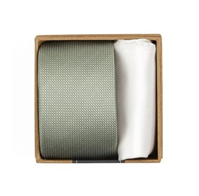 Sage Green Union Solid Tie Box ties