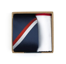 Classic Navy Ad Stripe Tie Box ties