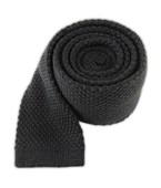 Ties - Knit Solid Wool - Graphite