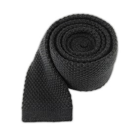 Graphite Knit Solid Wool ties
