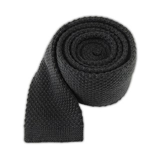 knit solid wool graphite ties