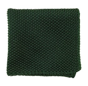 Hunter Green Solid Knit pocket square