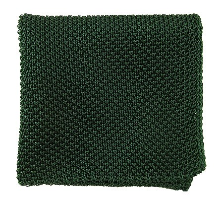 Solid Knit Hunter Green Pocket Square