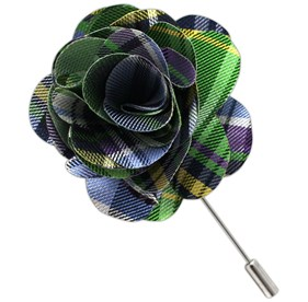 Apple Danbury Plaid Lapel Flower Pin