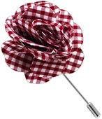 Lapel Flowers - Petite Gingham - Red