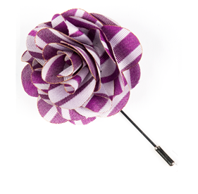 Azalea Unity Stripe Lapel Flower Pin