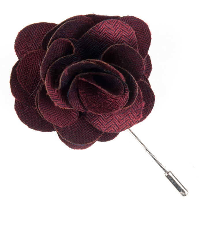 Burgundy astute solid lapel flower pin ties bow ties and pocket astute solid burgundy mightylinksfo
