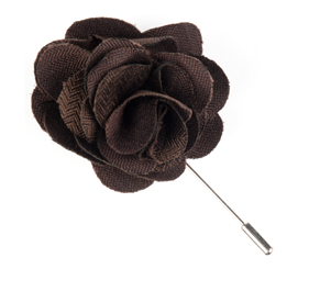 Chocolate Astute Solid Lapel Flower Pin