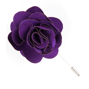 astute solid plum lapel flower pin