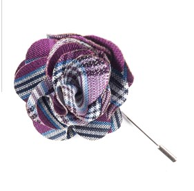Azalea Wit Plaid Lapel Flower Pin