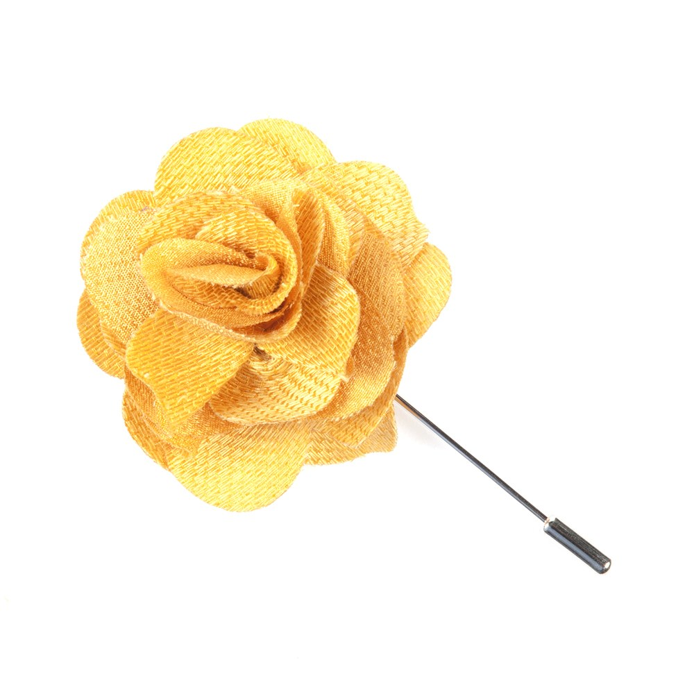 Yellow gold jet set solid lapel flower pin ties bow ties and jet set solid yellow gold mightylinksfo