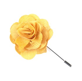 Yellow Gold Jet Set Solid Lapel Flower Pin