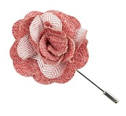 Lapel Flowers - Buff Solid - Red