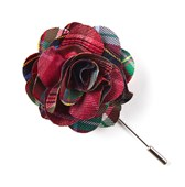 Lapel Flowers - Corrigan Plaid - Red