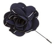 Lapel Flowers - Pencil Pinstripe - Navy