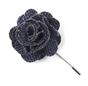LAPEL FLOWERS - WRIGHT SOLID - NAVY
