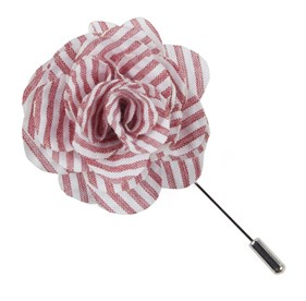 RED Seersucker Lapel Flower Pin