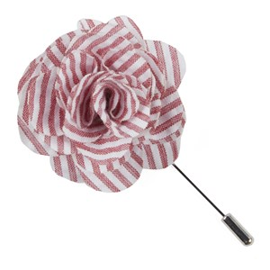 seersucker red lapel flower pin