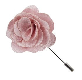 Lapel flowers lapel pins the tie bar blush pink twill paisley lapel flower pin mightylinksfo