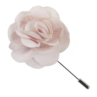 linen row blush pink lapel flower pin