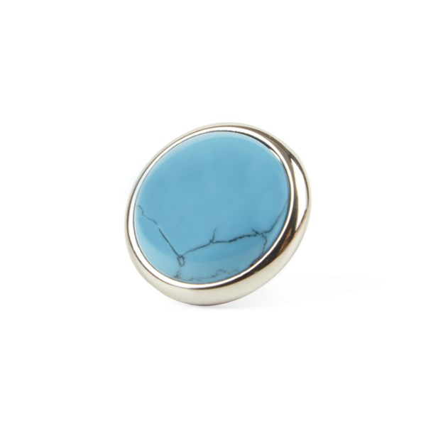 Silver Mountain Stone Lapel Pin