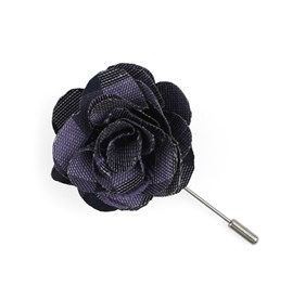 Purple Hale Checks Lapel Flower Pin