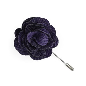 verge herringbone purple lapel flower pin