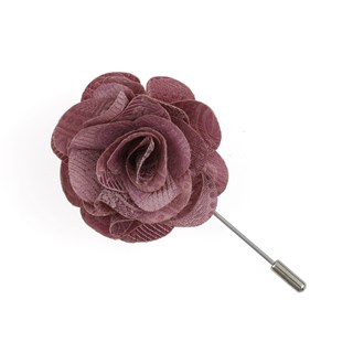 twill paisley dusty rose lapel flower pin