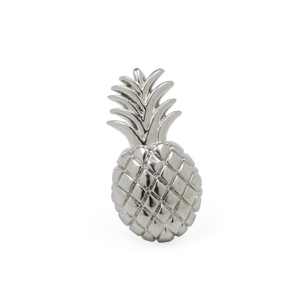 Silver Pineapple Lapel Pin