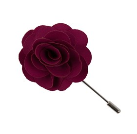 Red Fall Wool Solid Lapel Flower Pin