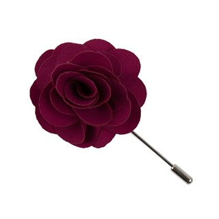 Fall Wool Solid Red Lapel Flower Pin