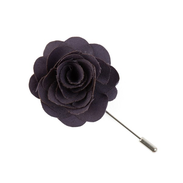 Eggplant Fall Wool Solid Lapel Flower Pin
