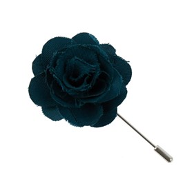 Green Teal Fall Wool Solid Lapel Flower Pin