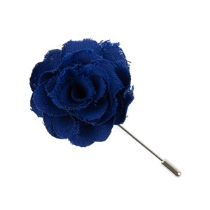 fall wool solid royal blue lapel flower pin