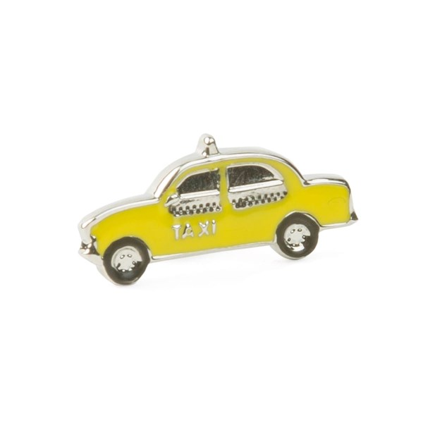 Silver Nyc Taxi Lapel Pin