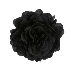 solid silk xl black lapel flower pin