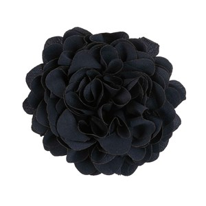 solid silk xl navy lapel flower pin