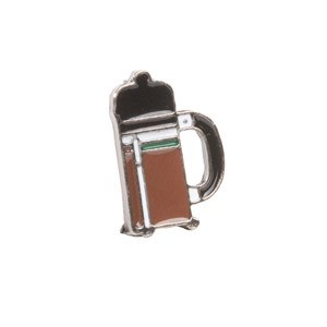 french press brown lapel pin