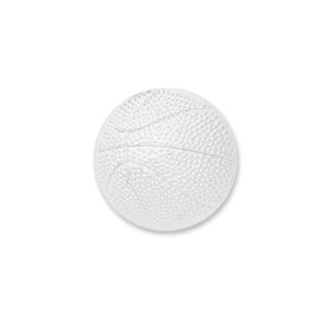 basketball silver lapel pin