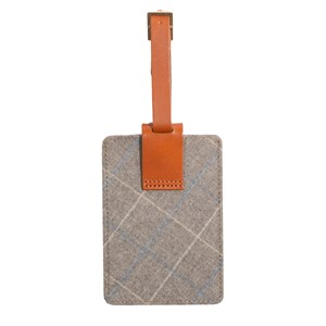 leather luggage tag grey gifting