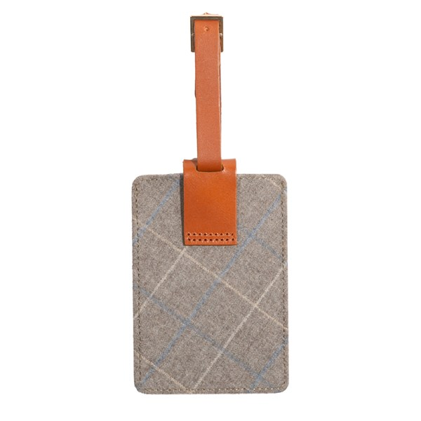 Grey Leather Luggage Tag Gifting