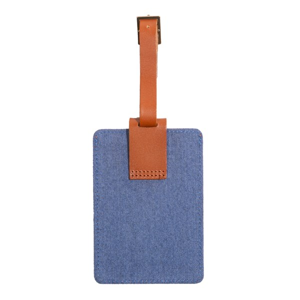 Blue Leather Luggage Tag Gifting