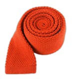 Ties - Knit Solid Wool - Dark Rust